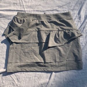Wet Seal Peplum Grey Skirt Sz S
